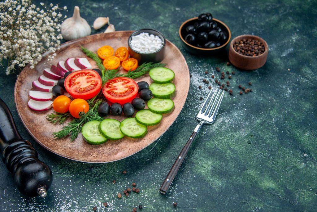 salades crudités et fleur de sel